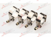 """4PCS 1"""" inch Turbo Pipe Hose Coupler T-bolt Clamp Stainless Steel 31-36mm"""