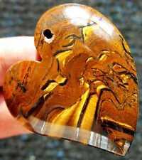 "1.8"" Jewelry Beautiful TIGER'S IRON Crystal Pendant"