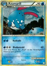 Azumarill 90KP - 2/123 - Bild Holo Karte - Pokemon HeartGold & SoulSilver -Neu