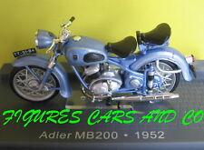MOTO CLASSIQUE 1/24  ADLER MB 200  1952 MOTORRAD MOTORCYCLE