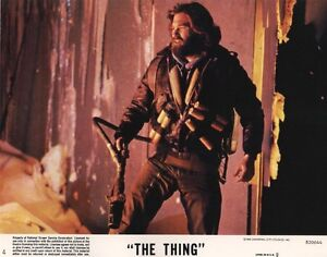 The Thing lobby cards - John Carpenter, Kurt Russell - mini set 8 x 10 inches