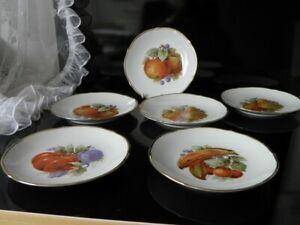 6 Kuchenteller Obstteller Obstmotiv Schuhmann Waldershof 30er Jahre