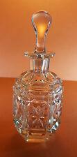 Belle vieux victorien panneau verre taillé bouché perfume scent bottle