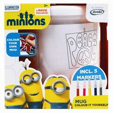 Minions Mugs Cups Colour Your Own Plastic Mug Cup Christmas Kids Children Gift