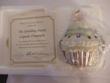 Lenox 2003 Jeweled Christmas Cupcake Ornament NEW IN BOX LIMITED EDITION W/COA