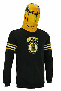 NHL Youth Boston Bruins Full Zip Helmet Masked Hoodie, Black