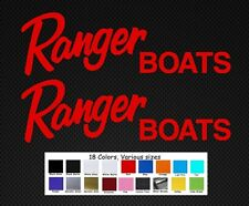 """Ranger Boats Decal Set Stickers 10"""" Fishing Baitcaster Swim Bait Outboard"""