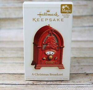 2006 A Christmas Broadcast Radio Hallmark Keepsake Magic Ornament