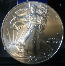 2014 US 1 oz Silver Eagle Dollar 99.9% Silver Coin in Coin Capsule