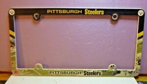 Pittsburgh Steelers Plastic License Plate Frame