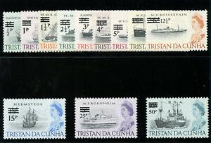 Tristan Da Cunha 1971 QEII Decimal ovpt set complete MNH. SG 137-148. Sc 141-152