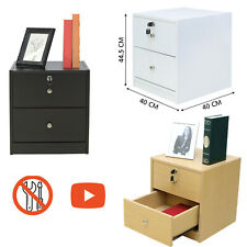Bedside Drawers Table Cabinets with Key Lock Small Bedside Tables Drawer Video
