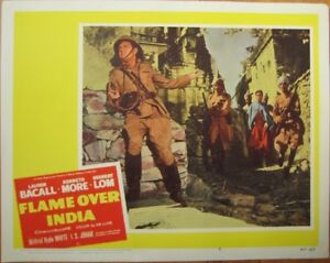 War Movie 1960 Lobby Card: Flame Over India w/Lauren Bacall/Kenneth More/H. Lom