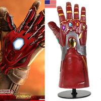 US! Avengers4: Endgame Iron Man Cosplay Arm Gem Infinity Gauntlet Gloves Adult