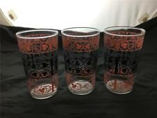 Fire King Wrought Iron Tumblers Pink Swirl Go Along