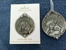 """2012 HALLMARK KEEPSAKE ORNAMENT """"MOTHER AND CHILD"""" -HOLE & CREASES IN BOX FRONT"""