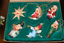 Efteling Holland Gnome Laaf Products Christmas Ornaments Set of 6 NIB 4162/853