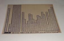 Microfich Catalogo parti di ricambio FIAT UNO DIESEL-TURBO D. R/89 60331810
