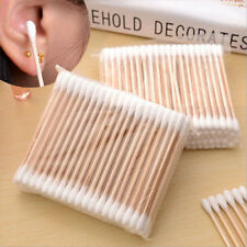 100Pcs Double Head Cotton Swabs Wood Sticks Ear Cleaning Medical Makeup Tools