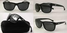 ARNETTE SLACKER SUNGLASSES AN4196-01 GLOSS BLACK FRAME GREY LENSES NEW
