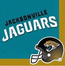 1 Pack Of 36 Jacksonville Jaguars  Nfl Football Double-Sided  Napkins 12 7/8 In