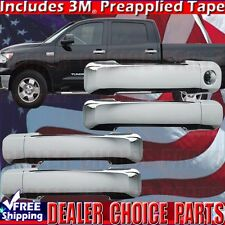 2007-2017 TOYOTA TUNDRA Crew Cab Chrome Door Handle COVERS Overlays Trims 4DR