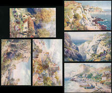 ISLE of WIGHT TUCKS OILETTE 7586 SET of 6 CARDS VENTNOR...ARTIST WIMBUSH