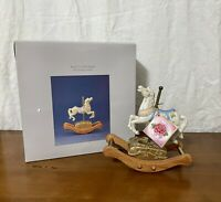 Willits Legends of the Rose Musical Porcelain Figurine with Rocking Motion Horse