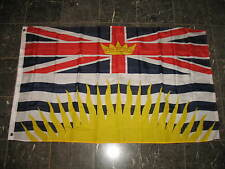 3X5 British Columbia Colombia Canada Canadian Flag 3'x5' Banner Grommets