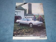 """1987 Subaru XT Turbo Vintage Ad """"Son I Thought You Were Going To Buy A Subaru."""""""