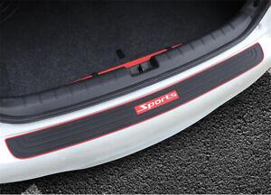 Anti-scratch Car Rear Guard Bumper Trunk Protector Nonslip Rubber Trim Universal
