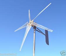 "KT Ghost 74"" Steel 5 Blade Wind turbine LOW WIND 12 VDC 2-wire 7 mag  3.75 kWh"