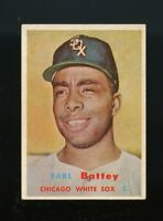 1957 Topps BB Card #401 Earl Battey Chicago White Sox NR-MINT