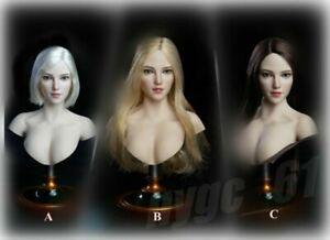 1/6 Pale Female Head Sculpt Carving Model Fit 12'' PH TBL Action Figure Body