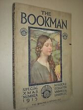 THE BOOKMAN CHRISTMAS 1915. ADVERTS. B&W & COLOUR PLATES. RACKHAM. DULAC etc.