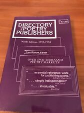 Directory of Poetry Publishers, 1985-86 B13