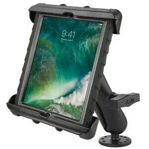 """RAM 1.5"""" Ball Flat Surface Mount w/ Large Tablet Holder Fits iPad & More w/ Case"""