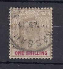 More details for bahamas kevii 1902 1/- brown sg68 vfu j2154