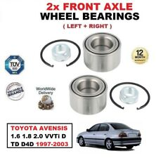 FOR TOYOTA AVENSIS 1.6 1.8 2.0 VVTi D TD D4D 1997-2003 FRONT AXLE WHEEL BEARINGS