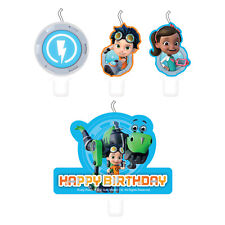 4 x Rusty Rivets Childrens Birthday Cake Candles Cake Picks Assorted Designs