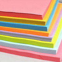 50 Sheets/Pack A4 Coloured Card DIY Printer Copier Craft Paper Making Cardstock