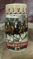 Budweiser Anheuser Busch collector Clydesdales Ceramarte Beer Stien Mug 1986
