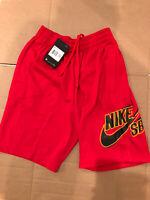 New Nike Skateboarding Shorts SB DRY Dri-Fit Sunday Red Men's Size XS CI5852-657