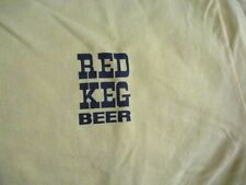 Older Yellow Midland Mich Brewing Co. Red Keg Beer Logo T Shirt Xl 50% 50%