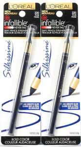 2 L'Oreal Infallible Silkissime Bold Color Silky Pencil Eyeliner 220 Plum