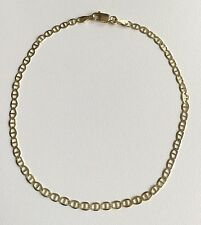 """14K Oro Real Tobillera 10"""" Largo / 14K Solid Yellow Gold Anklet 10"""" Long"""