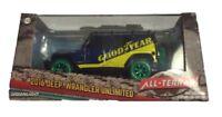 Greenlight 1:43 2016 Jeep Wrangler Goodyear w/ Roof Rack GREEN MACHINE