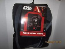 "Star Wars Kylo Ren Super MICRO Sherpa Throw Blanket (50 X 60"")  (New) DISNEY"