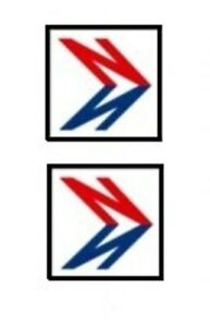 12 MODEL BUS WATERSLIDE TRANSFERS 1/76th FRONT NBC DOUBLE N LOGO (SMALL) 2.5 mm