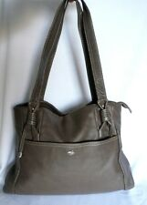 "SAC A MAINS CUIR ""BRUNO ROSSI"" LEATHER HAND BAG TAUPE"